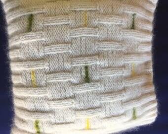 Handmade wool/mohair cushion