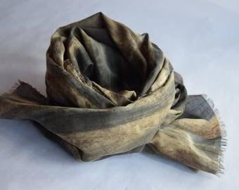 Japanese fabric, vegetable dye cotton scarf