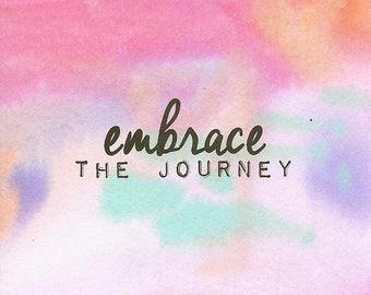 Embrace The Journey - 3x3 Original Mini Watercolor Painting