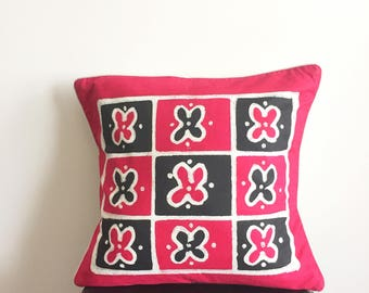 African Pillow, Boho Pillow, Tribal Pillow, Decorative Pillow, Sadza Batik