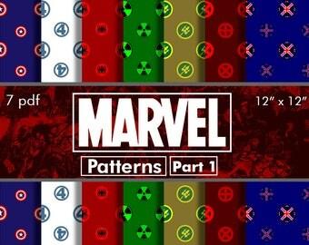 OFFER 80% Off SALE Marvel Digital Paper Pack Part 1