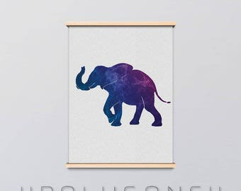 Silhouetta Elephant Poster | Digital Download, Elephant, Abstract, Frame, Wall Art, Picture, Minimalist, Graphic Design, Silhouette, Animals