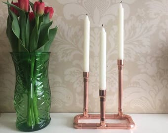 Retro copper candle holder
