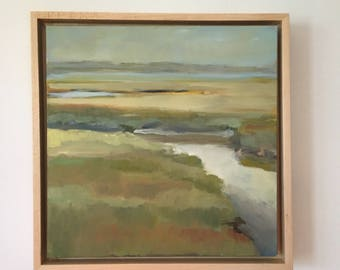 Original Oil Painting, Outer Marshes
