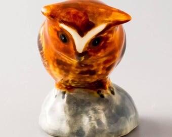 Porcelain Owl. Figurine. ceramics. home decor. art