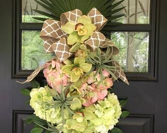 Hyrandgea Orchid Drop Floral Swag