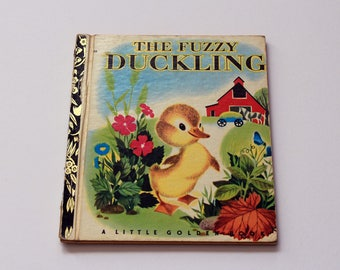 Vintage 1971 'The Fuzzy Duckling' Little Golden Book