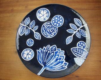 Midnight Garden Platter