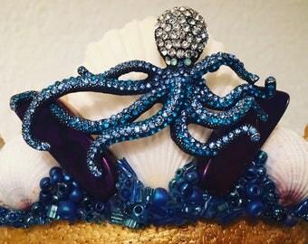 Jeweled Octopus Mermaid Crown