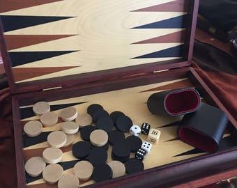 BACKGAMMON SET WOODEN Backgammon Board Handmade
