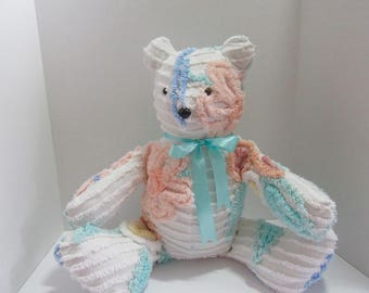 Handmade vintage chenille teddy bear- Sweet Pea
