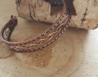 Copper wire weave bracelet