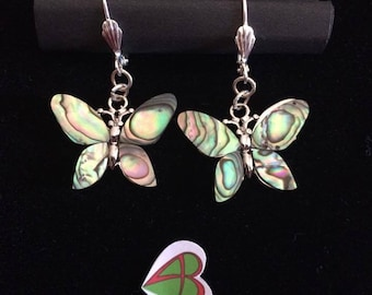 Paua mother of pearl earrings