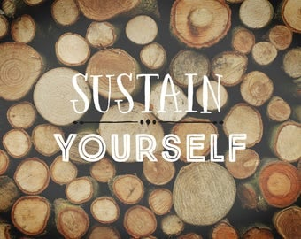 Sustain Yourself Canvas