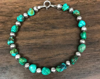 Sterling Silver 925 Turquoise Braclet