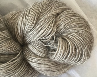 LACE Merino Yak Silk Undyed Yarn, Single Ply Natural Gray Undyed Lace Yarn,  Natural Undyed Merino Yak Silk Yarn Base Luxury Yarn Yak Yarn