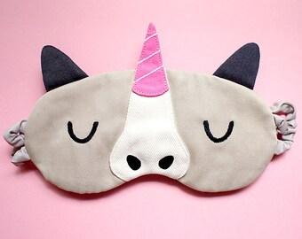 Unicorn Sleeping Mask, Unicorn Sleep Mask, Unicorn Eye Mask, Sleep eyemask, Unicorn Mask, beauty sleep, blindfold, McSparkles The Unicorn