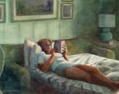 Watercolor Woman Reading ...