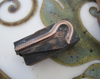 Hook Screw Antique Letterpress Printers Block