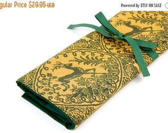 Sale Large Knitting Needle Case - Lineage - 30 green pockets for straights, circulars, dpns and notions