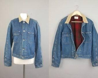 Vtg 90s Polo Jeans Co Ralph Lauren Denim Barn Jacket Polo Ralph Lauren - Polo Sport mens sz L