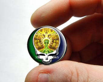 Glass Cabochon - Grateful Dead Steal Face Head Design 13 - for Jewelry and Pendant Making