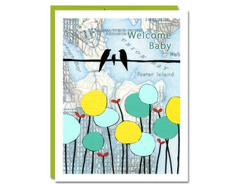 Welcome Baby Card / Happy Baby Times Card / New Baby Card / Rachel Austin Card