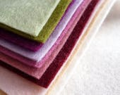 MUTED Wool Blend Felt Pack 10 squares