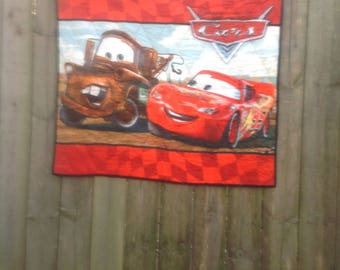 Lightning McQueen Child's Quilt FREE SHIPPING