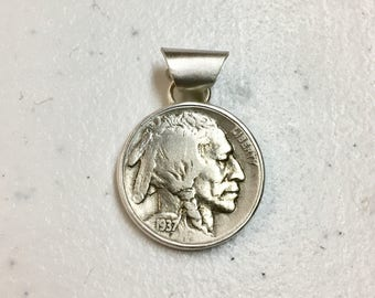 Vintage Indian Head Nickel Pendant