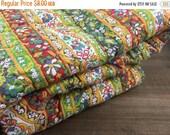 40% OFF- Vintage Bedspread Fabric -Flower Power