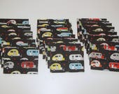 Reserved For Drea Smith - Fabric Gift Card Envelopes made of camper fabric
