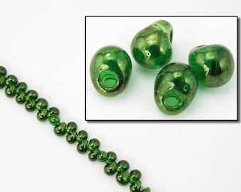 3.4mm Olivine Luster Drop (20 gm) #JGT002