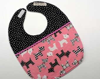 Baby Bib-Baby Girl Bib-Dogs-Baby Shower Gift-Toddler Bib