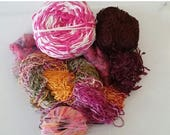 CLEARANCE - YARN - pink yarn, mohair yarn, great for scarves, trim