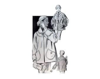 50s uncut Car Coat pattern Swing Coat vintage 34-35-37 Barn Jacket pattern Mail Order pattern Country Gentleman 2014