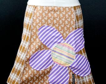 Khaki Schmaki In Bloom™ A-Line Skirt   Multiple Sizes