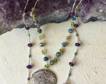 Flower Garden PMC necklace