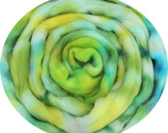 Cheviot Wool Combed Top Kettle Dyed Roving 100g CV10 Hand Dyed Fibre for spinning or felting