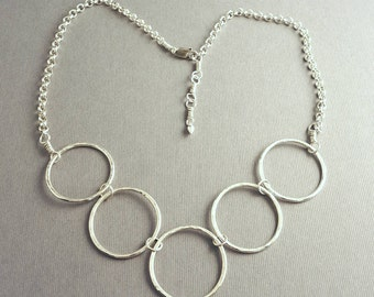 Sterling Silver Mod Circles Necklace