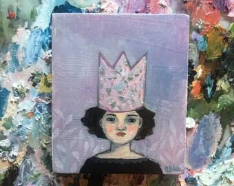 Oil painting portrait - Brigida - Original art