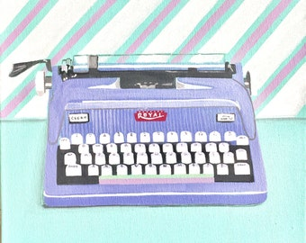 LILAC TYPEWRITER - Original Painting