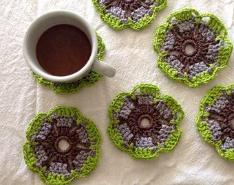 Crochet Coasters-Lime