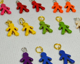 NEW Fun Stitch Markers - Dress Up Your Knitting! People Charms - Fits up to size 9 US needle