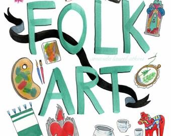 Folk Art Talisman 8x10 print