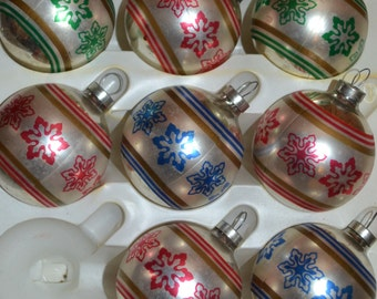 Snowflake Christmas Ornaments - Corning - Royal Hill Vintage
