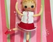 Adorable Vintage Pose Doll redone into a Sugar Plum fairy Nutcracker Ballerina