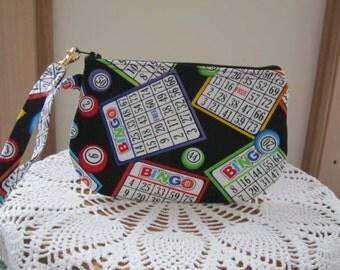 BINGO Bag Clutch Wristlet Zipper Gadget Pouch