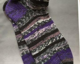 Handcranked Sport Socks, Ladies size 9-10, Mens 7-8, csm socks, circular sock machine socks, Treat for your Feet