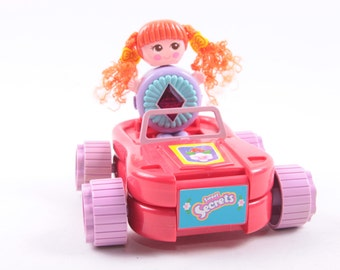 Galoob, Vintage Car, Red Head, Doll, Red Car, Playset, Transforms ~ The Pink Room ~ 161220